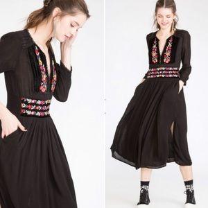 Free People Black Flora Dress •S•